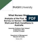 What Nurses Want