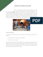Consideraciones en El Mezclado Del Concreto