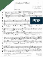 Brahms Clarinet Sonata Duet F Minor