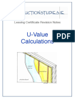 U Value Calculations