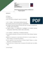 Programa general. III Congreso internacional de narrativa mexicana contemporánea