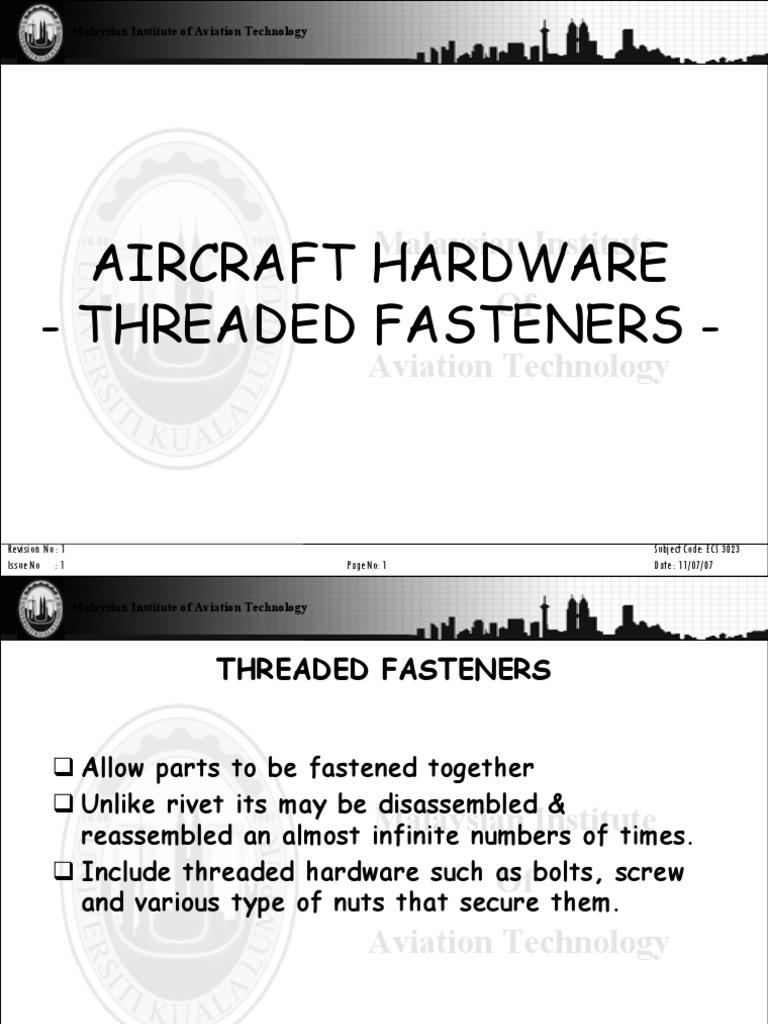 Aircraft Fastener | Screw | Nut (Hardware)