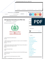 300 Important Solved Mcqs for PPSC Test _ LATEST MCQS