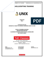 Unix Shell Scripting Tutorial | Unix Shell Scripting Online Training