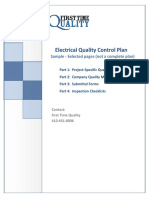 Electrical Quality Control Plan Sample