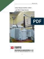 Instruction Manual for 500kV Shunt Reactor