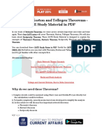 Thevenin, Norton and Tellegen Theorems - GATE Study Material in PDF