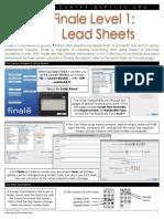 Finale Level 1 Lead Sheets