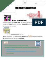Webquest Human Rights2016