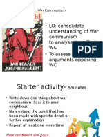 Effects of War Communism and NEP