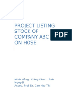 Project Listing Stock of Company ABC on Hose