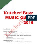 Kutcheribuzz Music Guide 2016