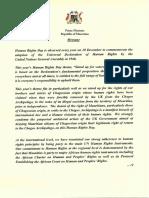 Message du Premier ministre à l'occasion de la  journée des droits de l'homme