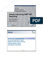 SAP HR Reporting Query and More