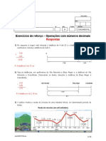 Exercícios de Reforço - Operações Co Números Decimais