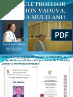 Prof. Dr. Ion Văduva, la ceas aniversar - noiembrie 2016