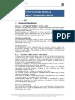 Especificaciones Tecnicas Estructuras y Arquitectura
