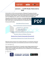 Network Transients 1 - GATE Study Material in PDF