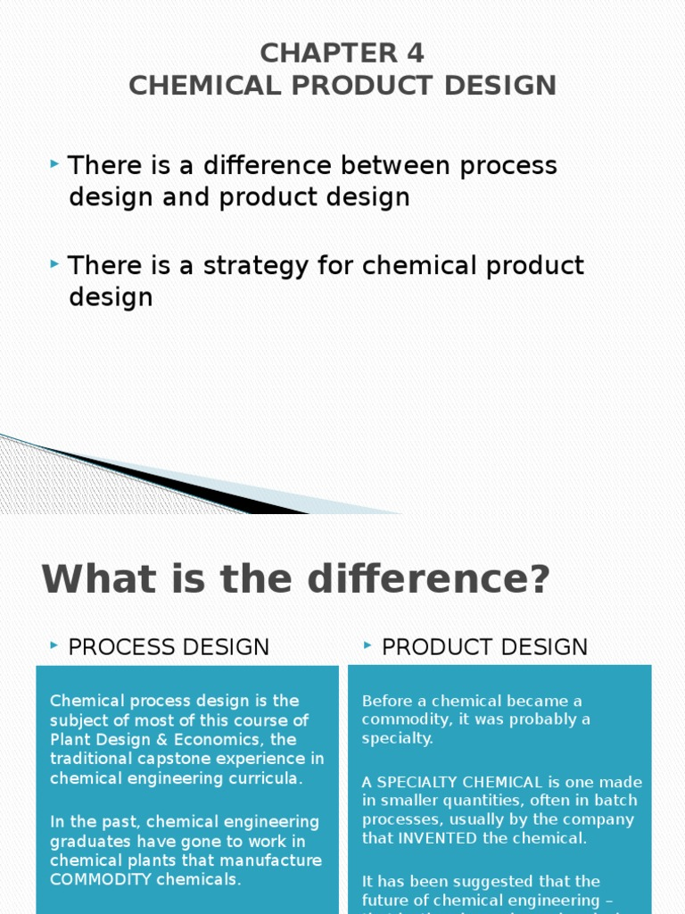 CHAPTER 4 UiTM - CHEMICAL PRODUCT DESIGN & INNOVATION