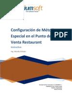 Instructivo - Configuración de Método especial en punto de venta restaurant