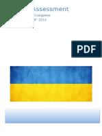 Medical Assessment - Ukrainian World Congress. July 28th - August 8th, 2014