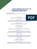 Reglamento General de La Ley de Propiedad Horizontal