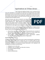 Slums and Deprivation in Urban Areas