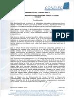 Regulación No CONELEC 004 14 Planilla Elèctrica