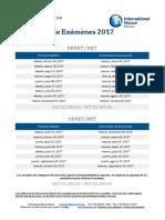 Calendario Examenes Ih 2017