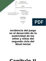 CApitulo II Insidencia de Juego