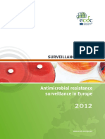 Antimicrobial Resistance Surveillance Europe 2012