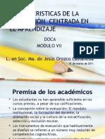 Caracteristicas de La Evaluación Centrada en El Aprendizaje (1)