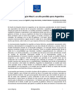 Informe. La Economía Según Macri. Un Año Perdido Para Argentina