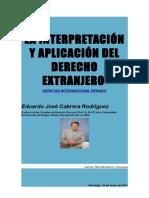 La Interpretación y Aplicación Del Derecho Extranjero Pags. 3 y 4