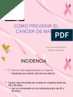 Prevencion Del Cancer de Mama