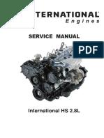 International HS 2.8L Workshop Manual ARO