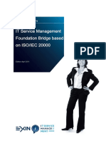 Sample Exam ITSM Foundation Bridge English
