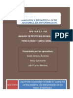 Análisis de Textos en Idioma Inglés