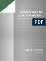 Metodología de la Programación Sesión 1