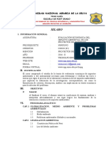 SILAbO.evaluación Economica Del Impacto Ambiental de Los Proyectos de Inversion 2016-II