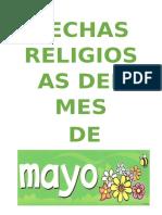 Fechas Religiosas Mayo