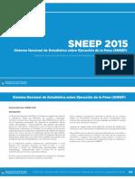 Informe Ejecutivo Del Sneep 2015-Sistema Nacional de Estadísticas Sobre Ejecución de La Pena