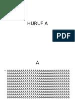 HURUF A
