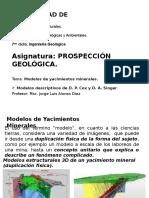 Prospección Geológica Modelos Descriptivos de Cox y Singer
