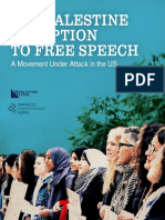 The Palestine Exception to Free Speech