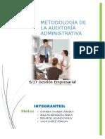 Metodología de La Auditoría Administrativa COMPLETO