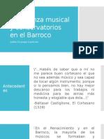 Enseñanza Musical y Conservatorios en El Barroco