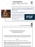 Reconocimiento Sor Juana Ines de La Cruz