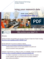 Archiving Research Data April2010
