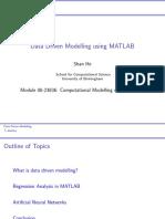 Data Driven Modelling Using MATLAB